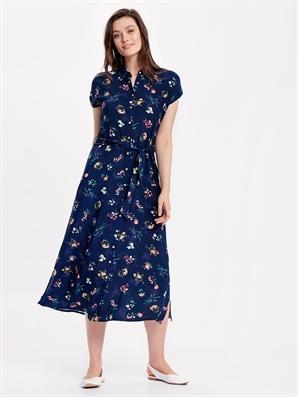 5fe03e3b51c0f Çiçek Desenli Poplin Gömlek Elbise - LC WAIKIKI