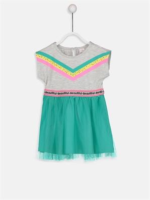 Kız Bebek Tül Detaylı Elbise -8SL026Z1-CT3