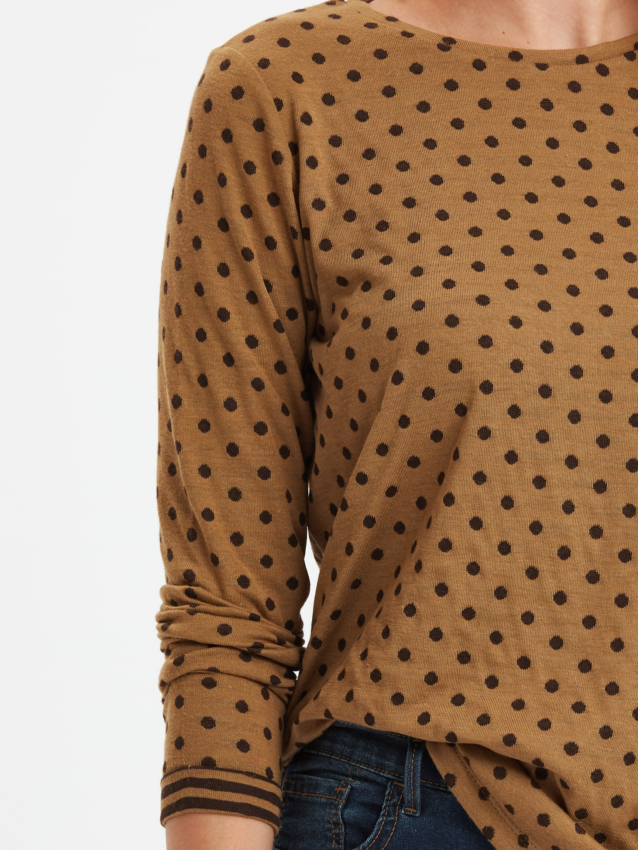 Puantiyeli Tişört -8WG058Z8-CR8