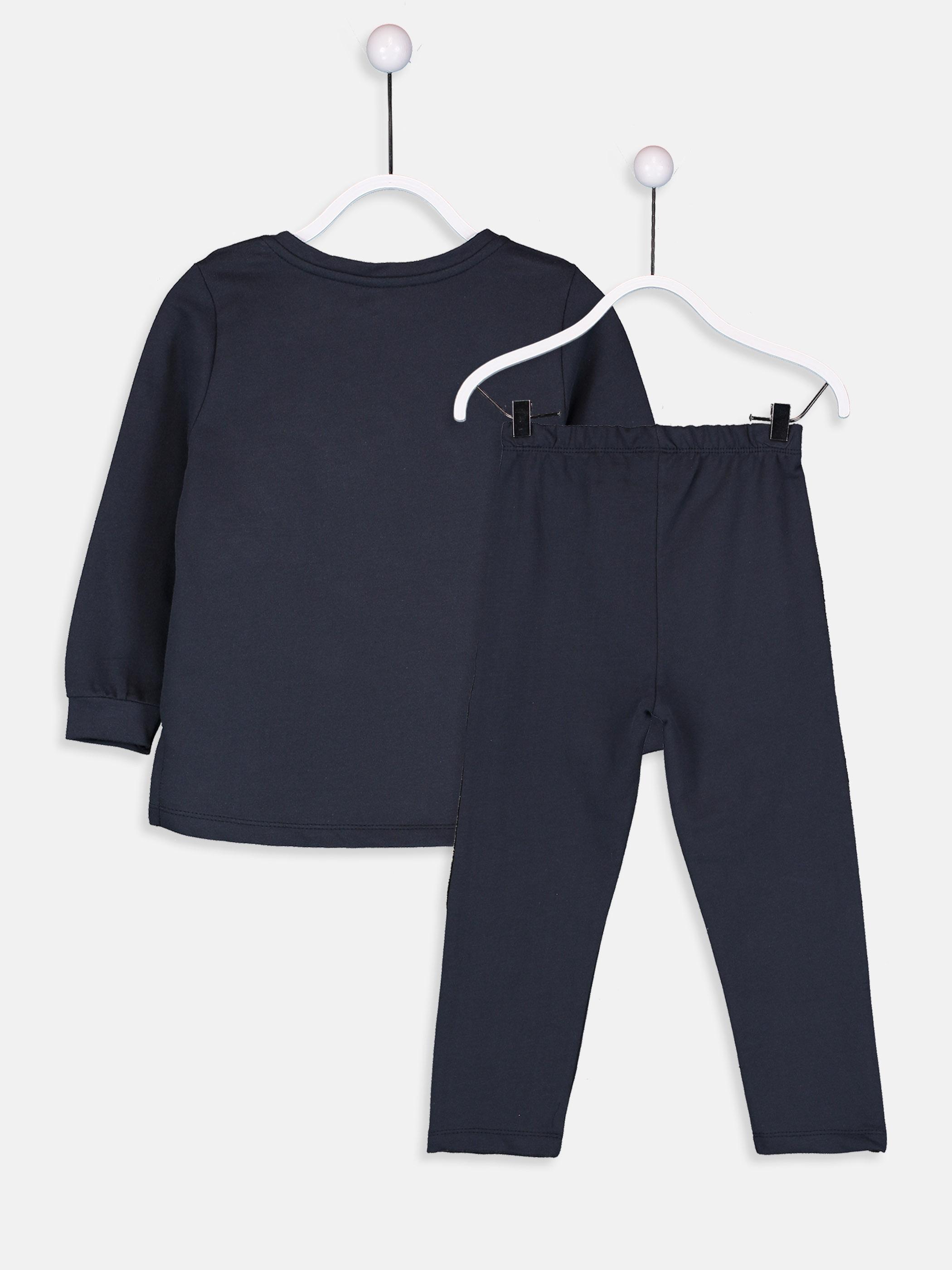 Kız Çocuk Çift Yönlü Payetli Pijama Takımı -8W6560Z4-HJB