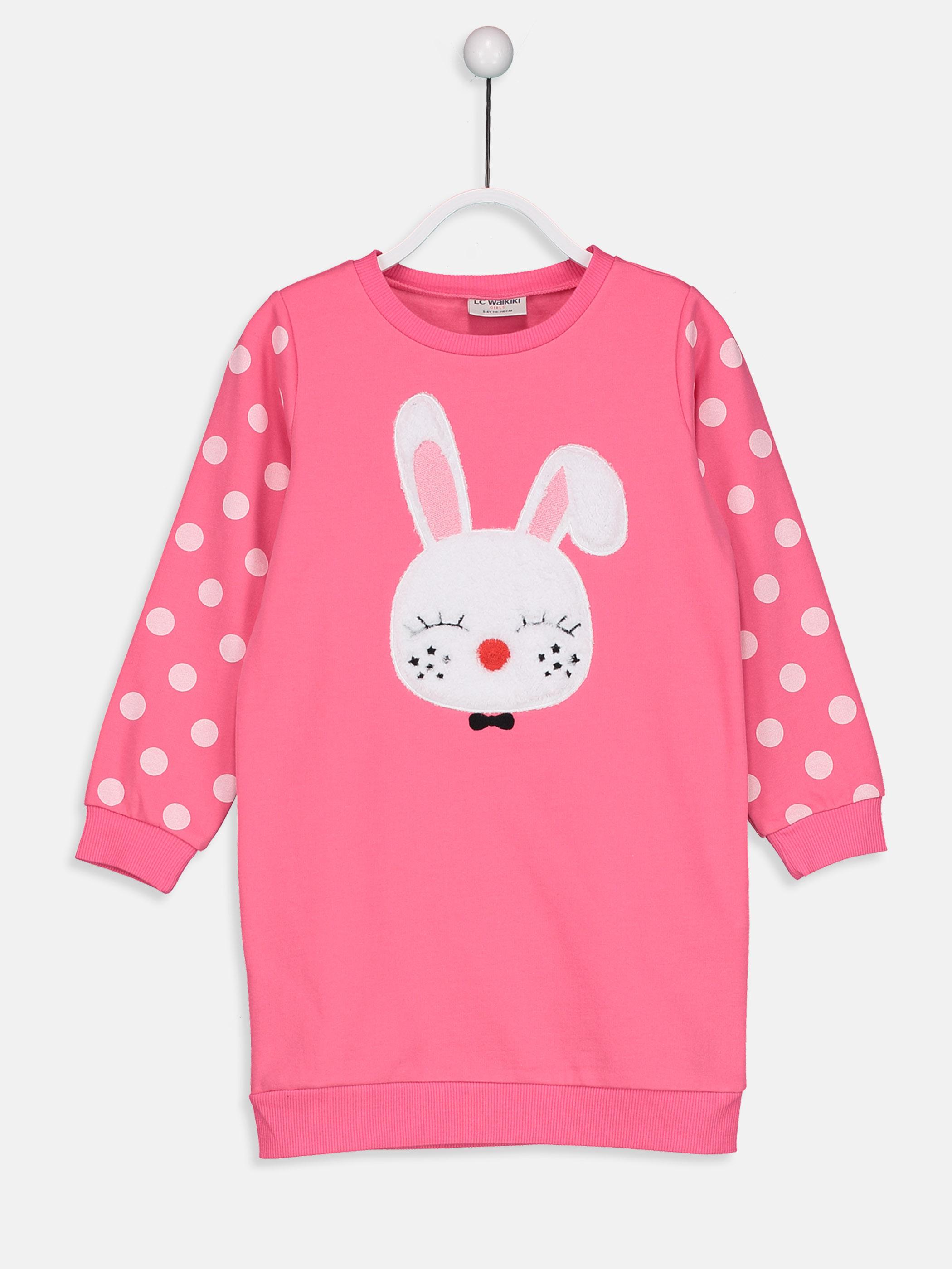 Kız Çocuk Aplike Detaylı Sweatshirt Elbise -8WG482Z4-GUZ