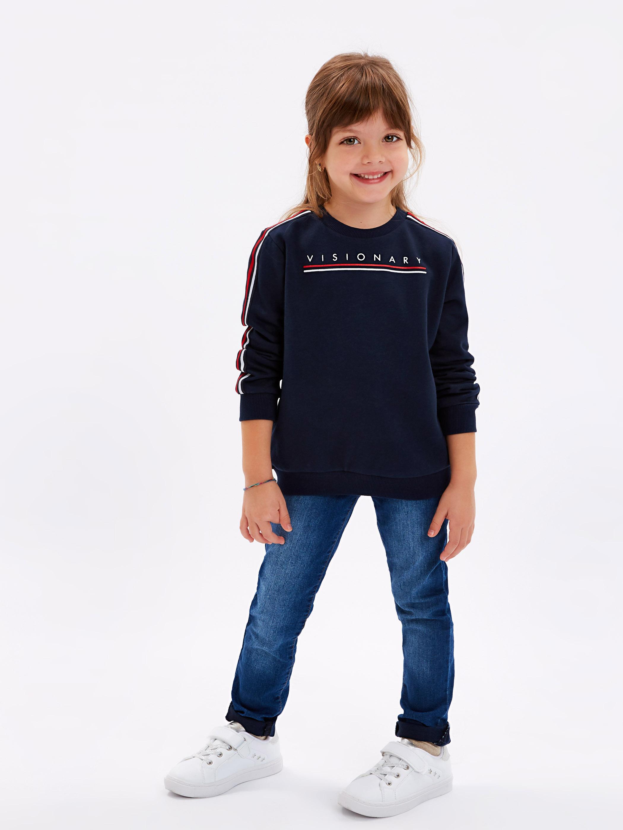 Unisex Çocuk Baskılı Sweatshirt -8WM804Z4-HRC