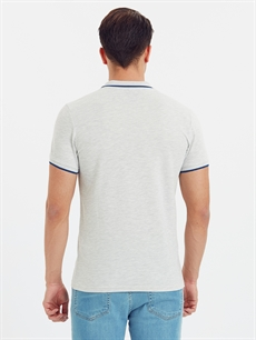 %69 Pamuk %31 Polyester Standart Düz Kısa Kol Tişört Polo Polo Yaka Kısa Kollu Pike Tişört