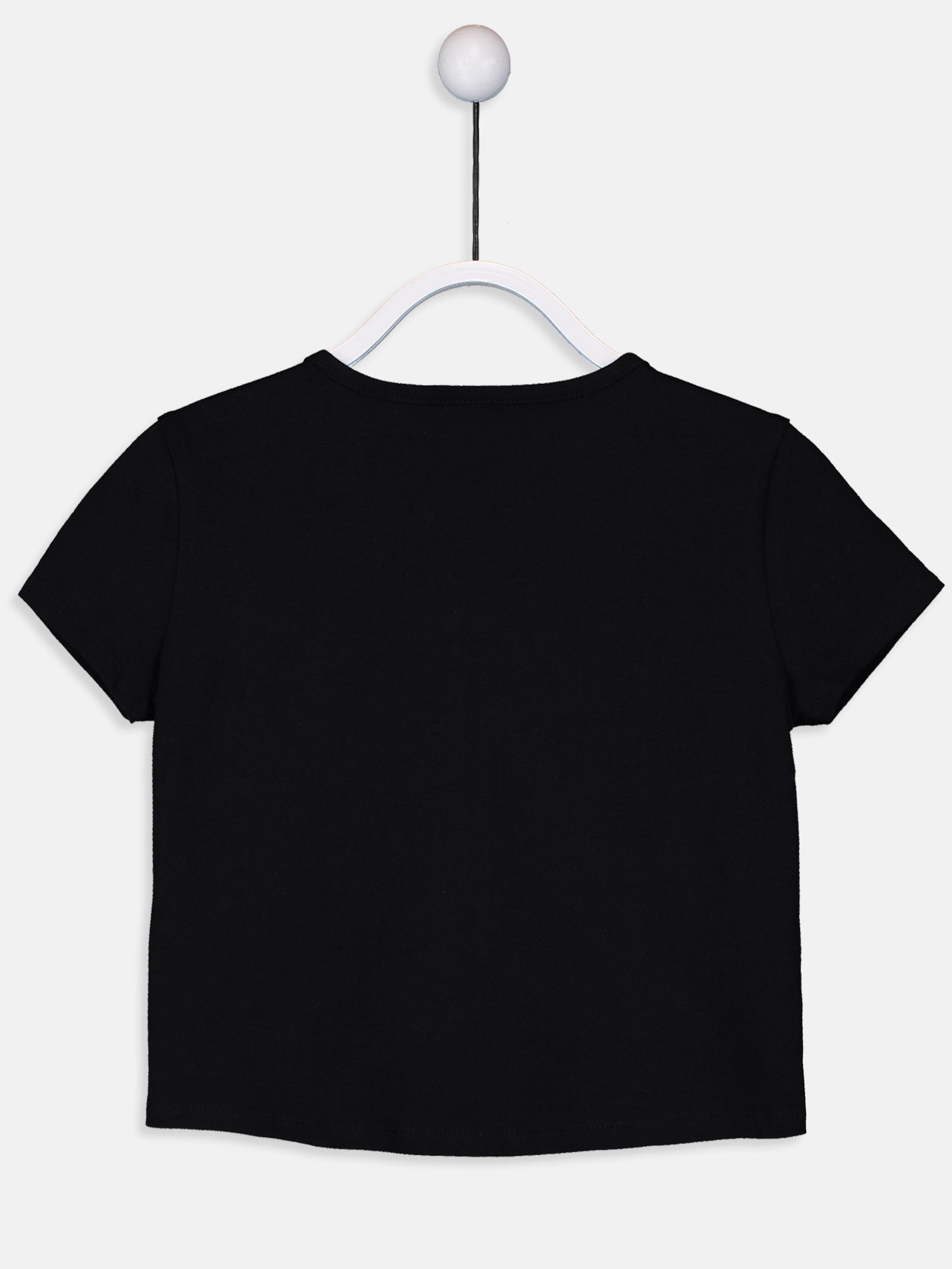 Kız Çocuk Yazı Baskılı Pamuklu Tişört -9SK567Z4-CVL