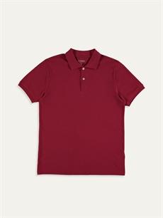 Kırmızı Polo Yaka Kısa Kollu Basic Pike Tişört 9SP889Z8 LC Waikiki