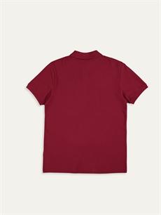 %100 Pamuk  Polo Yaka Kısa Kollu Basic Pike Tişört