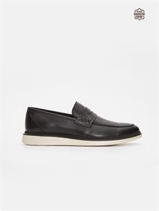 Siyah Erkek Loafer Deri Ayakkabı 9ST980Z8 LC Waikiki