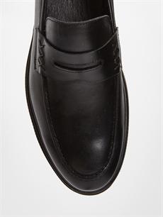 LC Waikiki Siyah Erkek Loafer Deri Ayakkabı