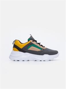 Gri Erkek Kontrast Renkli Spor Ayakkabı 9SA540Z8 LC Waikiki
