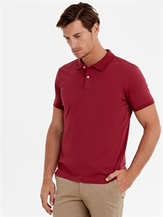 %100 Pamuk Standart Düz Kısa Kol Tişört Polo Polo Yaka Basic Kısa Kollu Tişört