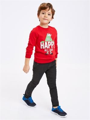 Erkek Çocuk Beli Lastikli Jean Pantolon -9S0036Z4-GRD