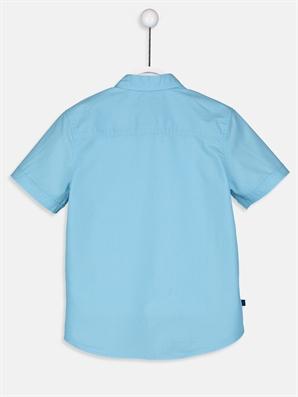 Erkek Çocuk Kısa Kollu Poplin Gömlek -9S0403Z4-G0P