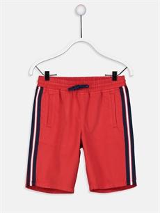 Kırmızı Erkek Çocuk Gabardin Bermuda 9S7723Z4 LC Waikiki