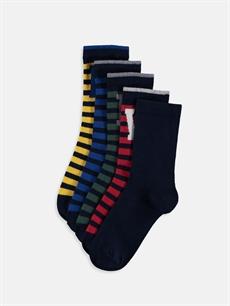 Çok Renkli Erkek Çocuk Soket Çorap 5'li 9SP597Z4 LC Waikiki