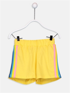 Sarı Kız Çocuk Pamuklu Şort 9SR292Z4 LC Waikiki