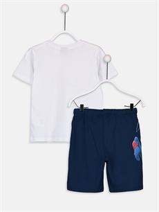%100 Pamuk  Erkek Çocuk Spiderman Tişört ve Şort