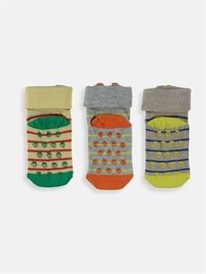 Erkek Bebek Erkek Çocuk Soket Çorap 3'lü