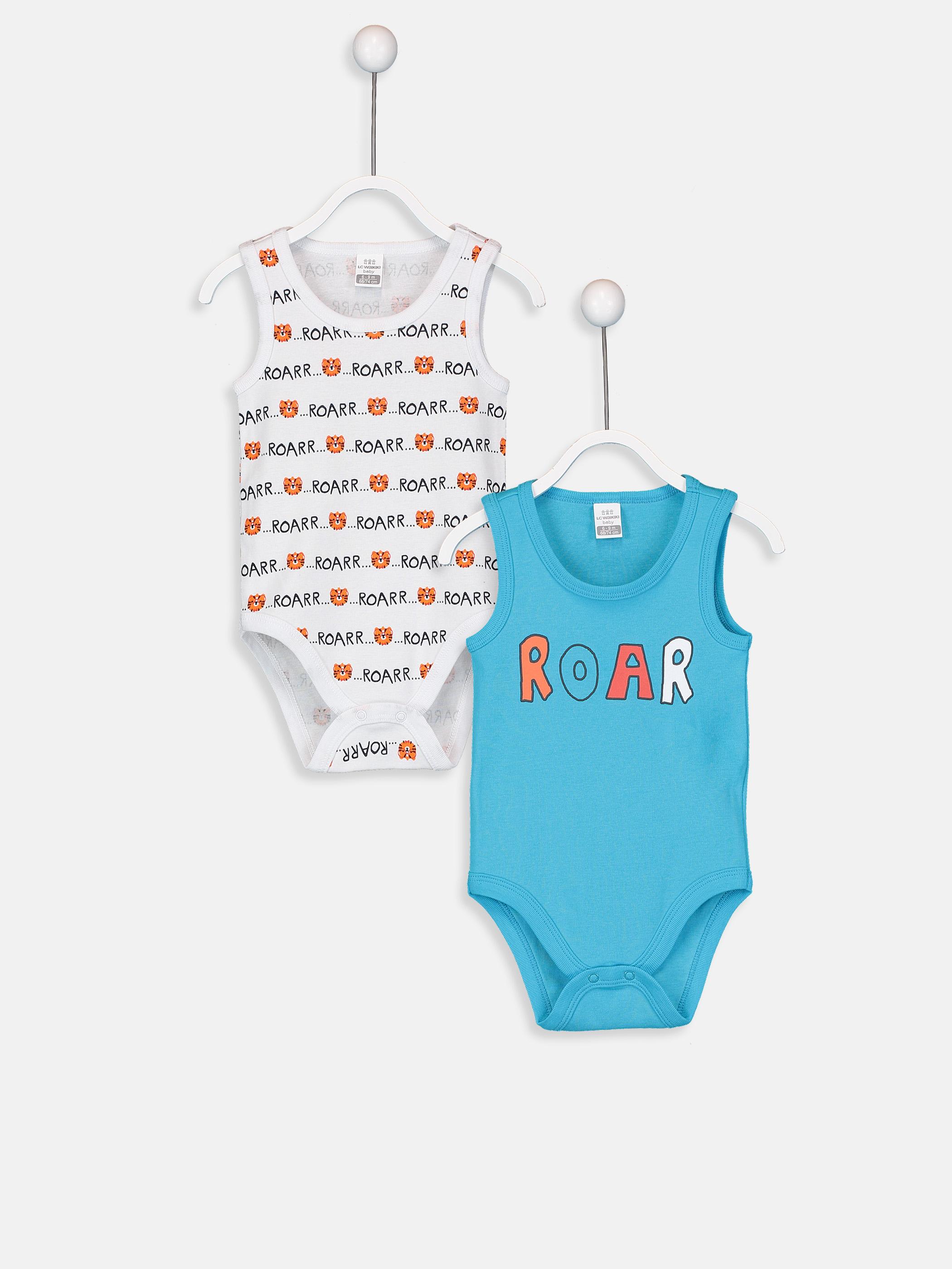 Erkek Bebek Pamuklu Çıtçıtlı Body 2'li -9SJ351Z1-GCV