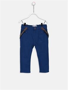 Lacivert Erkek Bebek Slim Poplin Pantolon  9SS711Z1 LC Waikiki