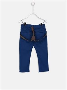 %98 Pamuk %2 Elastan %82 Polyester %18 ELASTODİEN Dar Erkek Bebek Slim Poplin Pantolon