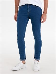 %80 Pamuk %18 Polyester %2 Elastan Normal Bel Dar Jean 760 Skinny Fit Jean Pantolon
