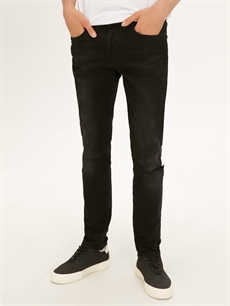 Normal Bel Dar Jean 760 Skinny Fit Yırtık Detaylı Jean Pantolon