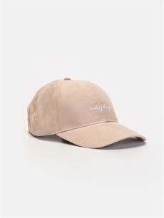 Pembe Slogan Baskılı Şapka 9W0873Z8 LC Waikiki