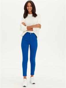 Mavi Yüksek Bel Super Skinny Jean Pantolon 9WK677Z8 LC Waikiki