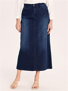 %72 Pamuk %26 Polyester %2 Elastan Uzun Uzun Jean Etek