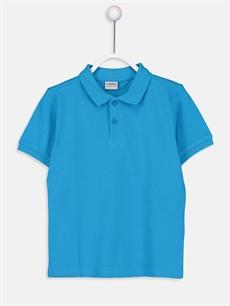 Turkuaz Erkek Çocuk Pamuklu Basic Tişört 9W0930Z4 LC Waikiki