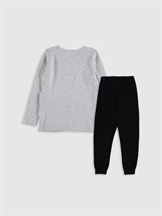 %67 Pamuk %33 Polyester Pijamalar Standart Kız Çocuk Looney Tunes Baskılı Pijama Takımı