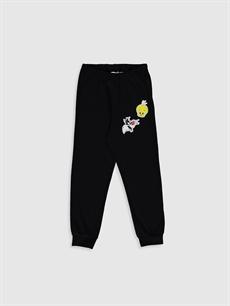 %67 Pamuk %33 Polyester Kız Çocuk Looney Tunes Baskılı Pijama Takımı