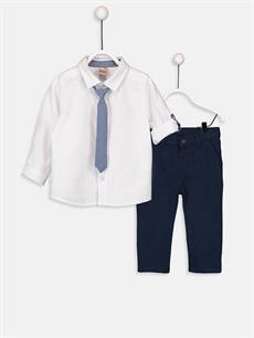 Beyaz Erkek Bebek Dokuma Takım 3'lü 9W0929Z1 LC Waikiki