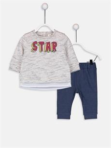 Gri Erkek Bebek Tişört ve Pantolon 9W1376Z1 LC Waikiki
