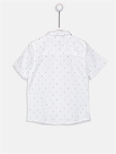 %100 Pamuk %56 Pamuk %44 Polyester Desenli Kısa Kol Standart Erkek Bebek Desenli Gömlek ve Papyon