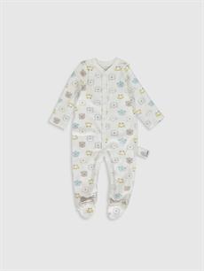 Beyaz Erkek Bebek Baskılı Tulum 9WL814Z1 LC Waikiki
