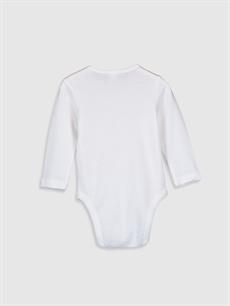 %100 Pamuk  Kız Bebek Çıtçıtlı Body