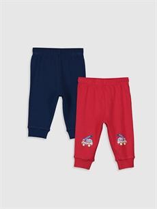 Kırmızı Erkek Bebek Pijama Alt 2'li  9WS216Z1 LC Waikiki