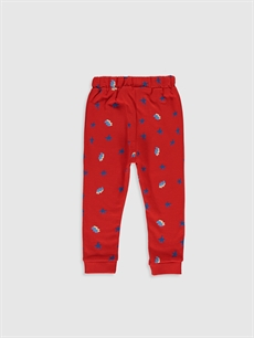 %88 Pamuk %12 Polyester  Erkek Bebek Baskılı Jogger Pantolon