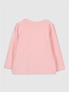 %80 Pamuk %20 Polyester  Kız Bebek Baskılı Sweatshirt