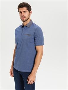 %100 Pamuk Düz Standart Kısa Kol Tişört Polo Polo Yaka Penye Tişört
