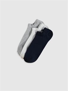Çok Renkli Sneaker Çorap 3'lü 0S4516Z8 LC Waikiki