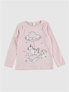 Kız Çocuk Kız Çocuk Unicorn Baskılı Pamuklu Pijama Takımı