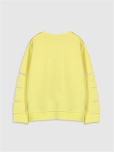 %100 Pamuk  Kız Çocuk Pluto Baskılı Sweatshirt